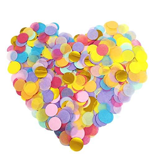 12000 piezas de confeti de papel redondo multicolor – Confeti de seda de 2,5 cm para decoración de globos de fiesta, boda