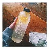 YUNGYE Vibrationssieb Wasserflasche Protein Vortex Shake Flasche Plastikbecher Glas Sportbecher Student Neue Kreative Tragbare 600 ml -