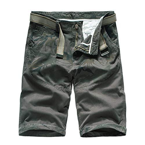Pantalones Cortos Verano Hombres Outdoors Flojo Ocasional Camuflaje Impresión Patchwork Mono Corto Pantalones Gran Precio Cortar