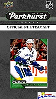 d553cdaaa Vancouver Canucks 2017 18 Upper Deck Parkhurst NHL Hockey EXCLUSIVE Limited  Edition Factory Sealed 10