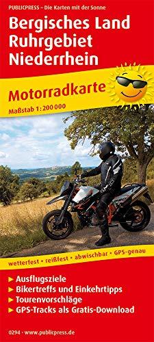 Bergisches Land - Ruhrgebiet - Niederrhein 1:200 000: Motorradkarte mit Ausflugszielen, Einkehr- & Freizeittipps und Tourenvorschlägen, wetterfest, reissfest, abwischbar, GPS-genau