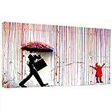 Leinwandbilder Bilder Banksy Like Kunstdruck Men in The