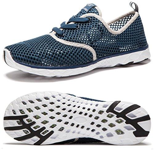 NeedBo Men's Aqua Water Shoes Lightweight Quick-Dry Walking Shoes (10 D(M) US, DarkBlue86)