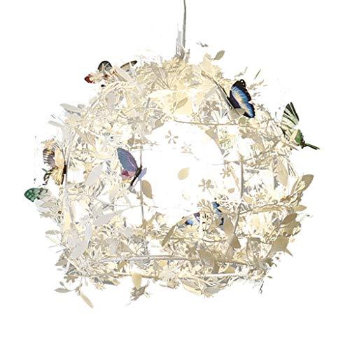 Lustres Eclairage de Plafond de Plume de Chambre d'enfants Papillon de Chambre de bébé de Maison plafonnier littéraire de Salle de séjour éclairage Chaud de Chambre lumière télescopique
