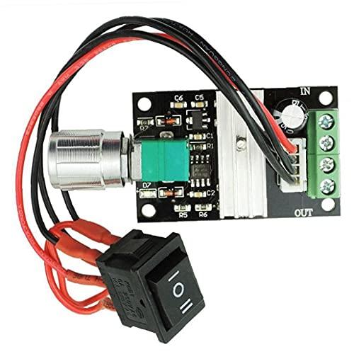 Gracy Controlador de Velocidad de Motor DC 6V 12V 24V 28V 3A 80W 1203BB PWM Conductor del Motor de Interruptor inversor de Velocidad Ajustable, Interruptor