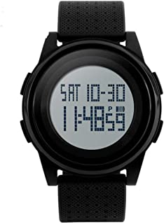 Men's Women's Fashion Silicone Band Waterproof Digital Wristwatch
