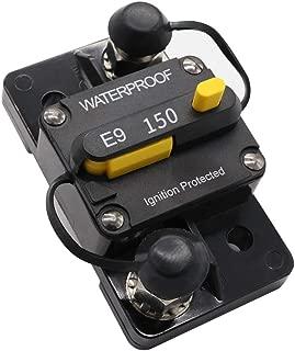 150 amp Circuit Breaker for Trolling Motor UTV Truck RV Marine Boat Solar Power Battery Bank Inverter 150 amp Breaker 12V - 72V with Manual Reset Switch