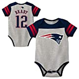 Outerstuff NFL Newborn Infants Little Blocker Creeper Bodysuit Name & Number Onsie (18 Months, Tom Brady New England Patriots)