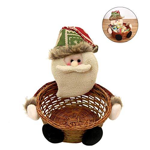 Cesto di vimini Cesto regalo ovale Decorazione natalizia Ornamenti natalizi di alta qualità Cesto fatto a mano personalizzato per Natale Uncategorized 18 * 18 * 18cm / 7.09 * 7.09 * 7.09in-Yves25Tate
