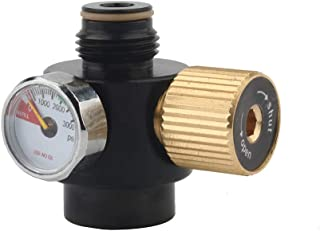 Gurlleu Adjustable PCP Paintball Tanks Regulator 0.825-14 NGO Output Thread Compressed Air Valve Gauge