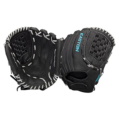 Easton Core Fastpitch Series COREFP1250BKGY Left Hand Throw 12.50 in Outfield/Pitcher Pattern