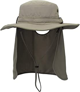 ABOOFAN Outdoor UV Protection Bucket Hat with Neck Flap Fisherman Hats with Wide Casual Sunhat for Men Women (Light Grey a...