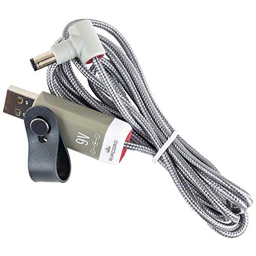 MyVolts Ripcord USB 5V to 9V DC電源ケーブル BOSS ボス Loop Station RC-1 / RC-2 / RC-3 / RC-10R / RC-20 / RC-20XL / RC-30 / RC-50 / RC-202 / RC-300 / RC-505 - USBからBOSS ボス Loop Station RCに電源供給
