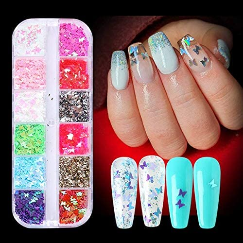 Nail Gilter 3D Butterfly Glitter Holographic New Orleans Mall Slice Mirror T Challenge the lowest price of Japan ☆