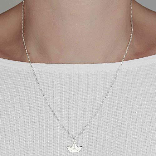 PAPIERBOOT Halskette Origami 925 Silber