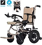 YQ&TL Electric Wheelchairs For Adults Motorised Folding Lightweight Deluxe Aluminium Transit 14Kg Mobile...