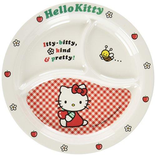 Daiwa お子様食器「ニューキティ」丸ランチ皿 (ギンガム) メラミン樹脂 日本 RLV73