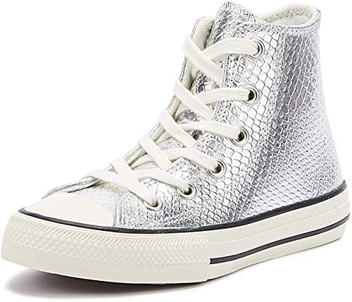 Converse Chuck Taylor All Star Youth Silber Hi Sneakers-UK 12 Kinder/EU 30