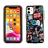 iPhone 11 6.1 Inch Dual Slim Case CASEVEREST 3D Print Cover iPhone 11 Rick and Morty Best Quotes