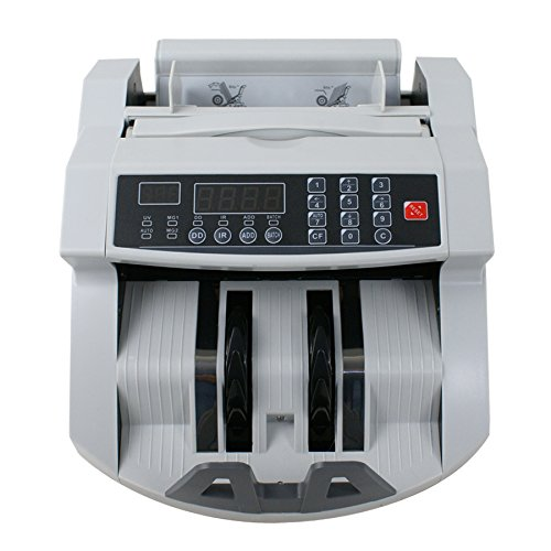 Super Deal Automatic Money Bill Counter Detector Display Currency Cash Counter Bank Machine, Banknote UV and MG Counterfeit Bill Detection (#1)