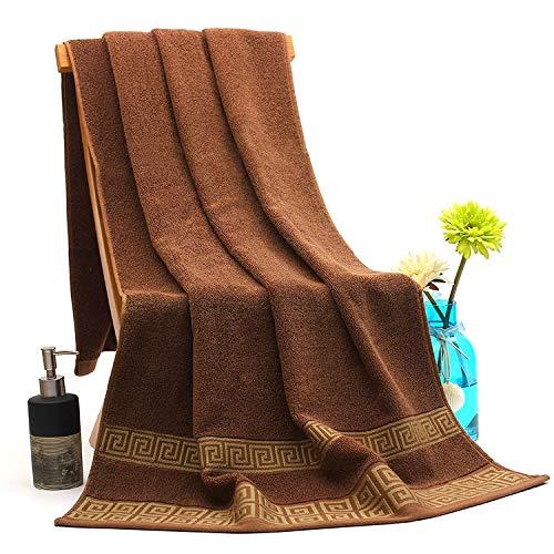Juego de toallas de sauna (2 toallas y 1 toalla de ducha), toallas de secado rápido, grandes de algodón suave absorbente para adultos (chocolate, juego de 3 toallas de baño)