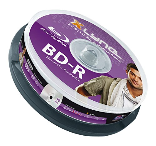 XLYNE BD-R Bluray Rohlinge │ 25 GB │ 6x Speed │ 10er Spindel