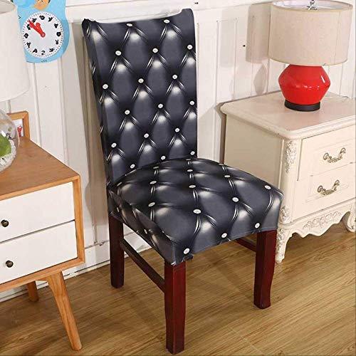 JYIP Spandex Elastic Printing Esszimmerstuhl Abdeckung Blume Abnehmbare Stuhlhussen Moderne Abnehmbare Anti-schmutzig Küchenstuhl umfasst eine Größe Schokolade
