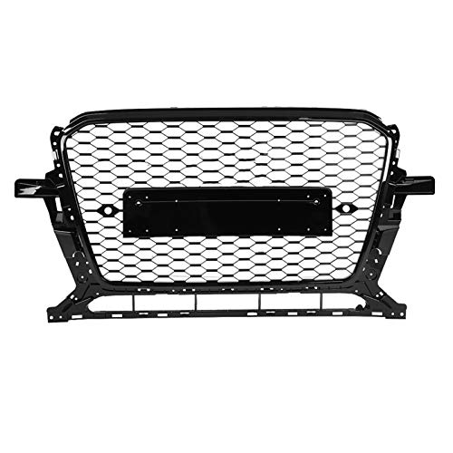DUQYDM Hood Hood Grill, for Q5 / SQ5 8R 2013 2014 2015 2016 2017 Car Accessories for RSQ5 Style Front Sport Hex Mesh Black