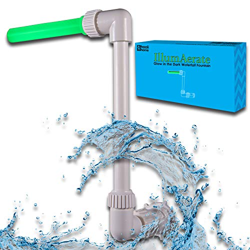 Swimming Pool Accessories Waterfall Fountain - Made to Fit 1.5' Threaded InGround Return Jets Only, Cools Warm Pool Water Temperatures, Aerates for Fresh Pool Water, Sprinkler Head Glows in The Dark