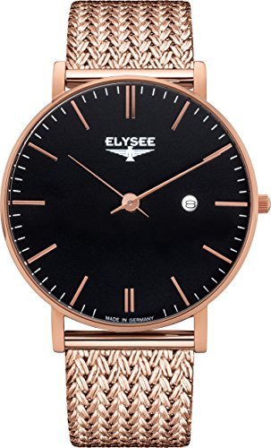 Elysee 98005M Zelos Edelstahl rosé vergoldet Quarz Herrenuhr