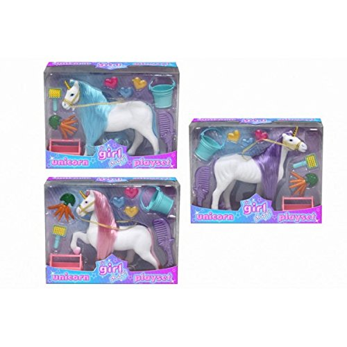 Su materia de la muchacha! Unicorn Playset - 16cm unicornio Con Accesorios - Juguetes para...