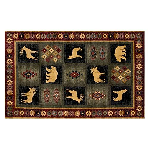 Area Rug, European Vintage Animal Art Vintage Print Carpet Large Non-Slip for Living Room Hall Dinner Table Home Decor 160x230cm