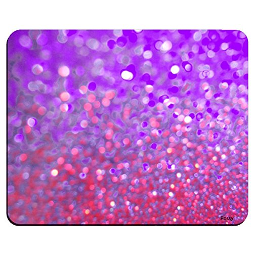 Mouse Pad Rainbow Glitter Background Non-Slip Rubber Mousepad Gaming Mat 01