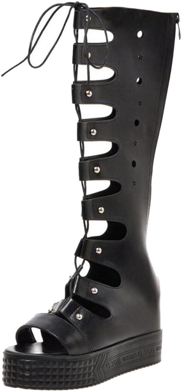 TAOFFEN Women Roma Platform Sandals