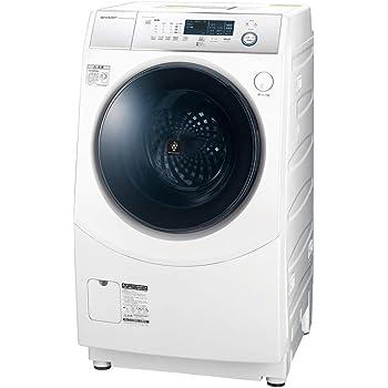 シャープ 洗濯機 ドラム式洗濯機 ヒーター乾燥 左開き(ヒンジ左) DDインバーター搭載 ホワイト系 洗濯10kg/乾燥6kg 幅640mm 奥行729mm ES-H10D-WL