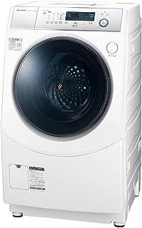 シャープ 洗濯機 ドラム式洗濯機 ヒーター乾燥 右開き(ヒンジ右) DDインバーター搭載 ホワイト系 洗濯10kg/乾燥6kg 幅640mm 奥行729mm ES-H10D-WR