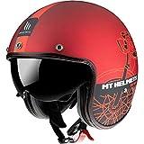 Casco MT OF507SV LE Mans 2 SV Cafe Racer B5 Rojo Mate S