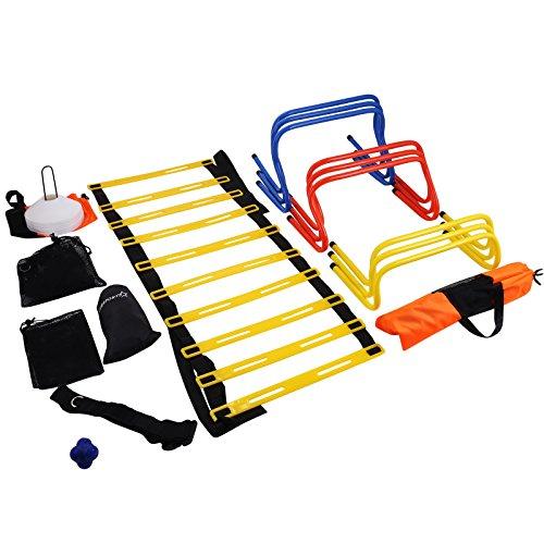 Olibelle Kit D'entraînement De Vitesse échelle De Vitesse Football Training Kit Echelle Agilité...