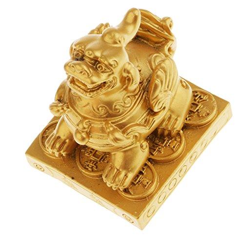 sharprepublic La Estatuilla Pi Xiu Feng Shui para Atraer La Riqueza De La Decoración del Hogar - Oro