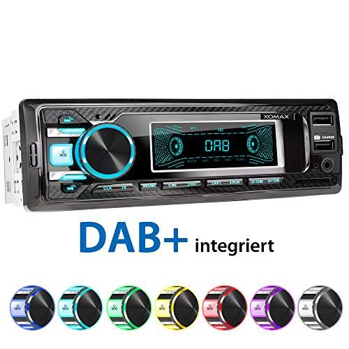 XOMAX XM-RD269 Autoradio mit integriertem DAB+ Tuner, FM RDS, Bluetooth Freisprecheinrichtung, USB, SD, MP3, AUX-IN, incl. DAB+ Antenne,1 DIN