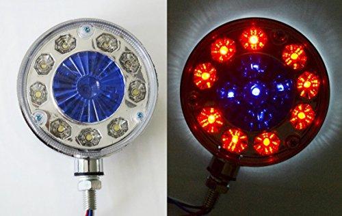 2 x LED 24 V Unique Bleu/rouge/blanc lumières Coin côté Outline Lampes Couleur Chrome Cadre Châssis de camion remorque caravane Camper