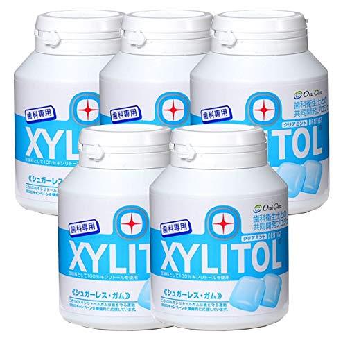 歯科専用 キシリトールガム ボトルタイプ クリアミント(約90粒) 5個セット