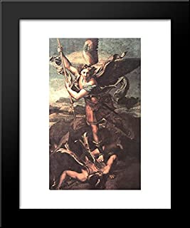 St. Michael Overwhelming the Demon 20x24 Framed Art Print by Raphael