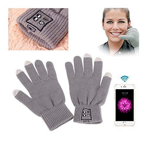 KawKaw SmartGloves Bluetooth Handschuhe (Grau)