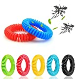 LEO SAWYER Mosquito Bracelets, 12 Pack Reusable Plant-Based Oil and Waterproof Wrist Bands for Adults, Pets, DEET Free, Travel Protection Outdoor