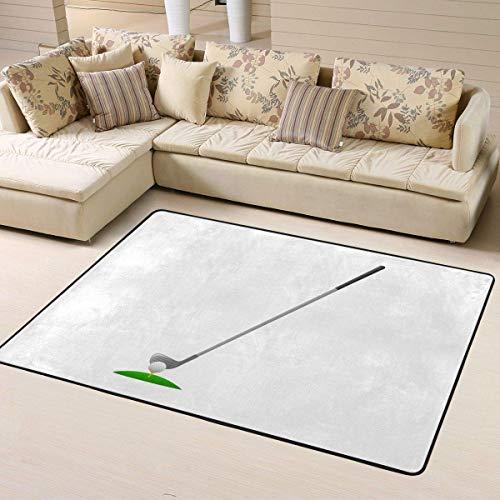 Alfombra grande para sala de estar, palo de golf, resistente, para decoración del hogar, antideslizante, suave, 153 x 122 cm