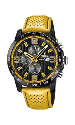 Festina Unisex Erwachsene Chronograph Quarz Uhr mit Leder Armband F20339/3