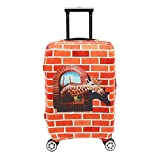 Colorpole Luggage Cover Protective Suitcase Fabric Fits 18 22 30 inch (M, Giraffe Manor)
