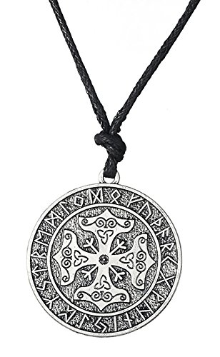 Collar con Calendario de Martillo de Thor con Cruz vikinga nórdica, Estilo Vintage, joyería para Hombres y Mujeres