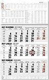 3-Monatskalender groß 2022 - Büro-Kalender 30x49 cm (geöffnet) - mit Datumsschieber - inkl. Jahresübersicht - Alpha Edition